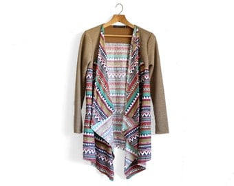 Blanket Coat, Blanket Cardigan, Long Cardigan, Southwestern Jacket, Southwestern Clothing, Boho Cardigan, Draped Cardigan, Norwegian Wood