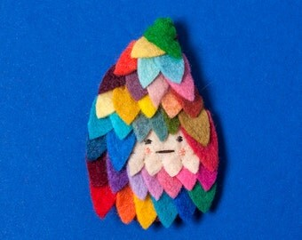 Makeforgood - Feathered Brooch - made to order