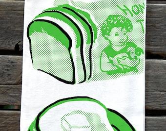 KTPOP2: Bread - Pop Art Screenprinted Flower Sack Kitchen Towel