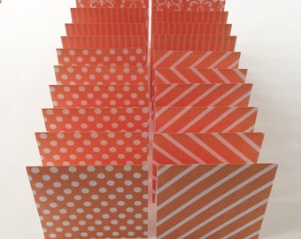 Mini Cards 24 orange mix - blank for thank you notes 3 x 3