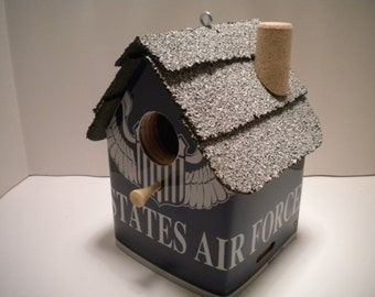 US Force License Plate Birdhouse
