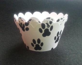 Custom Animal Paws Cupcake Wrappers (12)