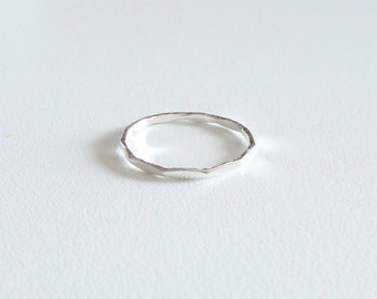 Sterling stacking ring, 1 mm  sterling silver ring