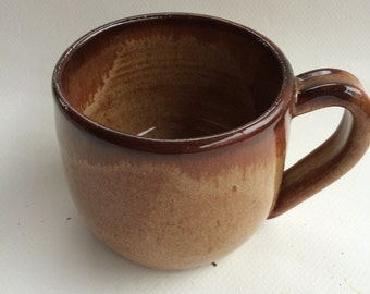 Nutmeg brown handmade mug / coffee/ tea/  pottery, ceramic, ready to ship -second M17