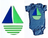 Nautical Sailboat ...Fabric Iron On Appliques