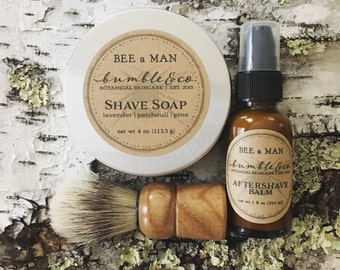 7 Shave Sets | Shaving Soap | Aftershave | Shave Brush | Mens Gift | Groomsman Gift | Men's Herbal Skincare | Wedding Party Gift | Men Gifts