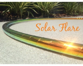 Solar Flare Polypro Hoop // Color Shifting Polypro // Choose Your Tubing & Diameter!