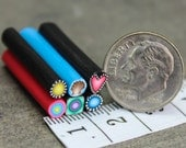 Set of 6 ITTY-BITTY 1-inch Polymer Clay Canes - 'Once Upon' series