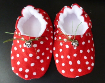 Jingle Bells - Soft Baby Shoes, 6-12 Months