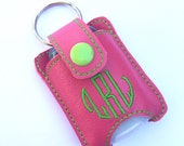 Personalized Monogram keychain fits new BBW hand sanitizer holder monogrammed vinyl