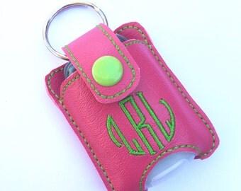 Personalized Monogram keychain fits new BBW hand sanitizer holder monogrammed vinyl custom keychain