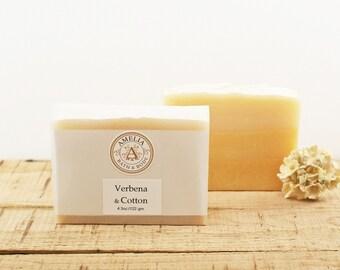 Verbena and Cotton Soap | Cold Process Soap, Vegan Soap, Bath Product, Cold Press Soap, Ombre, Unique Soap for Kids, Gift Idea for Her Him