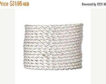 END of Year SALE Sterling Silver Twisted Full Hard  20Guage Jewelry and Craft Wire 5 feet