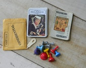 Vintage Clue game cards and pieces