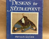VINTAGE Victorian Designs for Needlepoint by Phyllis Kluger  - Vintage Needlepoint / Needlepoint Book / Needle Point