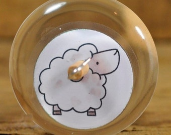 Resin Drop Spindle - Little Sheep