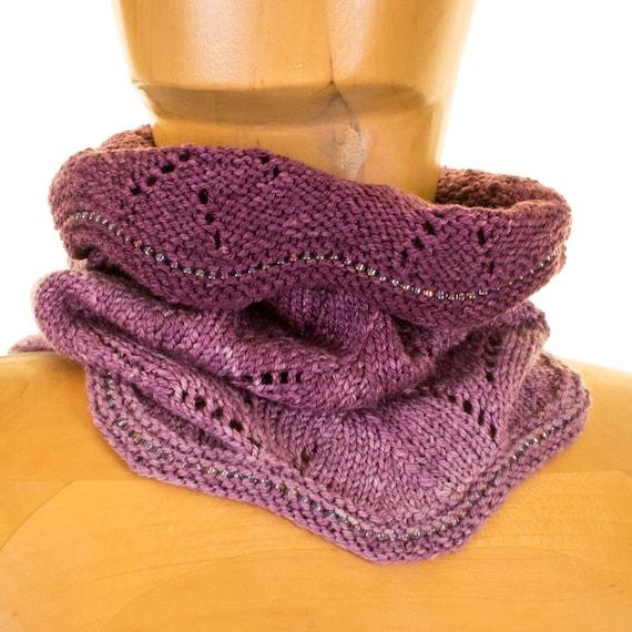 Knitting Pattern Lace Cowl : Henrico Lace Cowl Knitting Pattern
