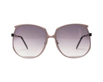 1980s Lamborghini Oversized Metal Vintage Sunglasses   Unused Italian Eyeglasses in New Old Stock condtion