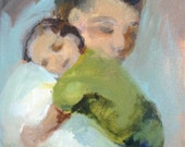 Quiet- Figurative Portrait of Father and Son