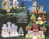 Fairy Tale Castles, Plastic Canvas, The Needlecraft Shop, Gina Woods, 963374, 4 Miniature Castles, Accessories, Unique Pattern,Sewing Design