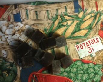 Sugar Scrub cubes ....20  Vanilla,Brown Sugar, Patchouli Sugar Scrub  20 cubes