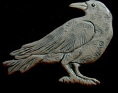 Ceramic standing crow wall hanging for home or garden