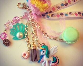 My Little Pony unicorn BAGCHARM or KEYCHAIN