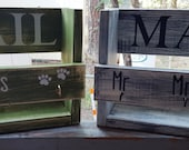 MAIL His/ Hers or Mr/Mrs Paws Key holder / dog leash holder... a must have