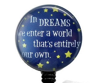 Dreams Inspirational Retractable ID Badge Reel, Name Badge Holder 292
