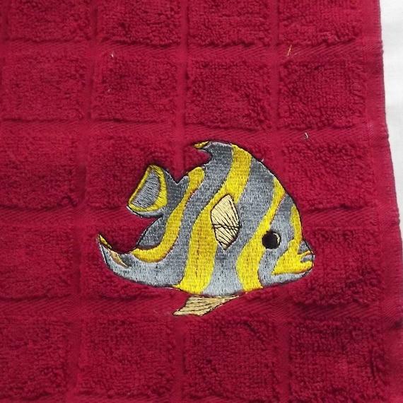 Fish Embroidered Tea /Dish Towel