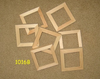 7 unfinished  wood 3x3 picture frames