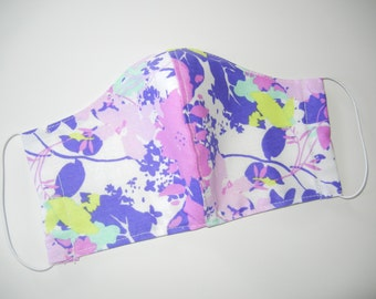 Fabric Surgical Face Mask in Floral Lavender Sweet