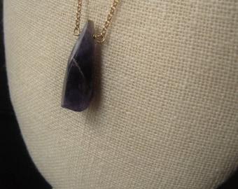 Gemstone Pendant Necklace Amethyst Crystal Necklace February Birthstone Necklace Item No. 5354