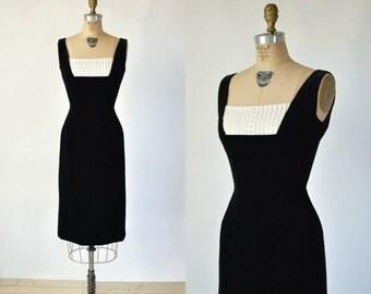 30% OFF Vintage Cocktail Dress --- 1960s Black Velvet Dress