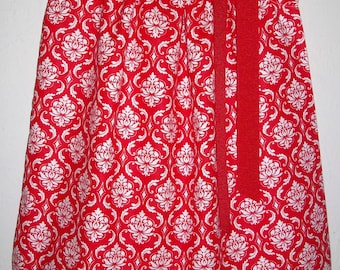 Red Damask Dress, Girls Dresses, Pillowcase Dress, baby dresses, toddler dresses, Kids Clothes, Damask Clothes, Dress with Damask Sundresses