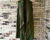 Extra Long Full Length Fleece Vest