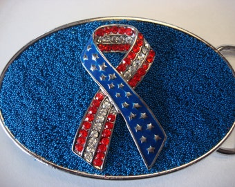 Stars and Stripes - USA Belt Buckle