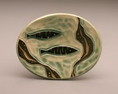 Fish and Seaweed- little oval dish- Ruchika Madan