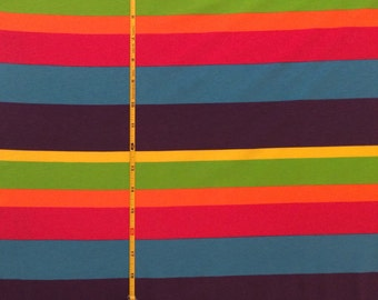 "NEW Rainbow Group Graduated Rainbow stripe cotton lycra 95/5 58"" wide sold per yard"