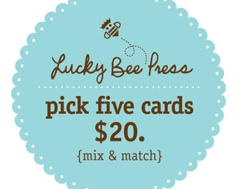 Letterpress - Pick Any Five Cards