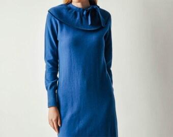 Vintage Sonia Rykiel Blue Knit Dress