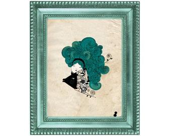 8x11 Professional Art Print, A4 Print, Custom Zodiac Sign, Big Print - (Only USA)