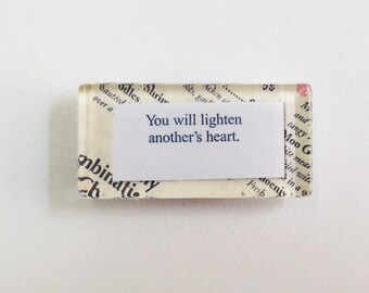 NEW - Chinese Fortune Glass Magnet - You will lighten anothers heart
