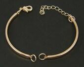 2 Pcs Rose Gold Bangle Bracelet Finding with Extender Chain Bracelet Component Jewelry Supply for DIY Bracelet Base  CO4-4 2