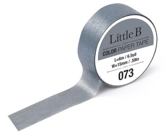 Grey Washi Tape 073 • Little B Solid Color Tape 15mmx6m (100960)