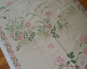 Vintage Polished Cotton Fabric - Chintz Fabric - Made in England