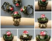Sweet Mushroom Terrarium Ring