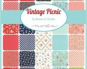 40 Fat Quarters - VINTAGE PICNIC fabric bundle  Moda by Bonnie & Camille