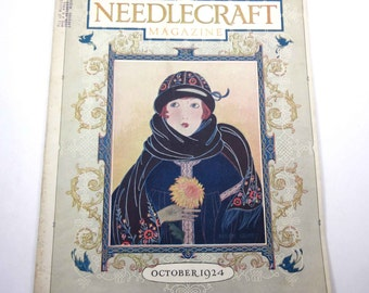 Vintage 1920s Needlecraft Magazine for October 1924