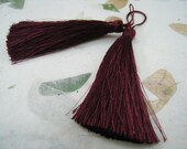 4 Pieces of Long Silk Tassel  - Rosewood